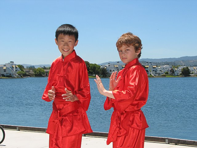 Students of California Kung Fu Tai Chi Institute performaing Long Fist