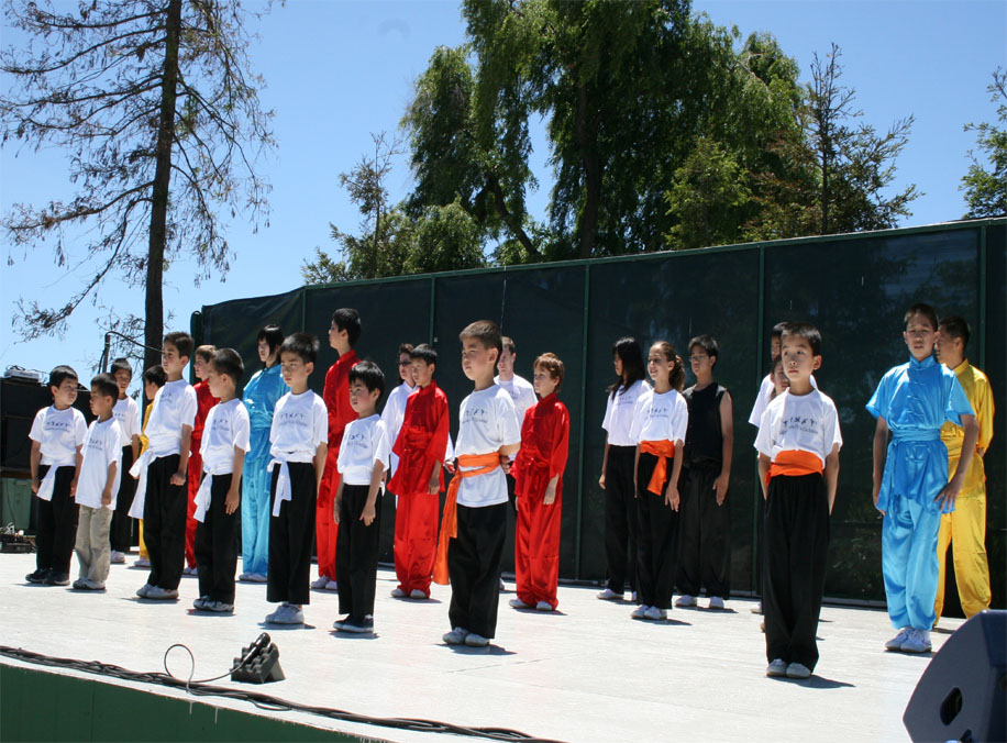 Group performance of California Kung Fu Tai Chi Institute